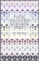 Pastel Halloween Background Pack by Sleeplesssmiles