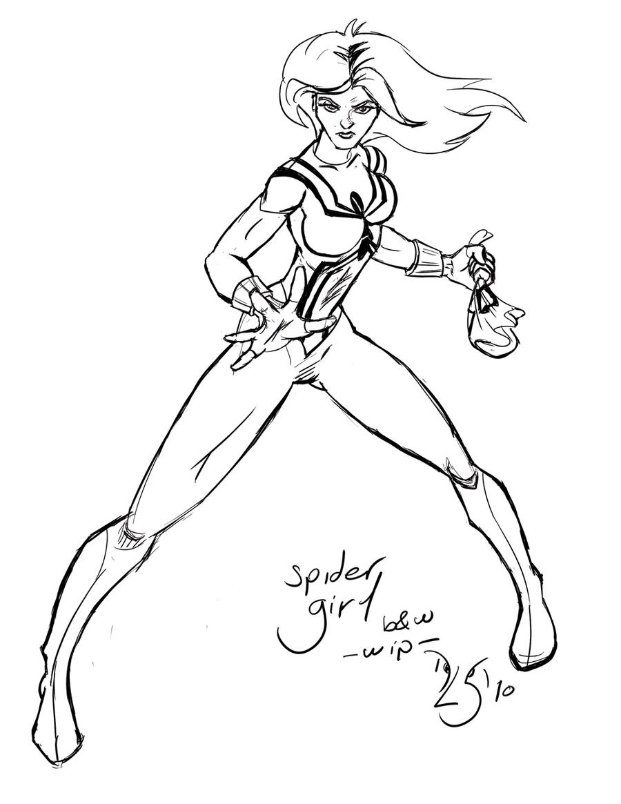 spider girl coloring pages - photo#17