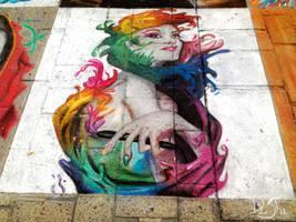 Angel of color - Soft pastels WIP 08 by DavidSerret