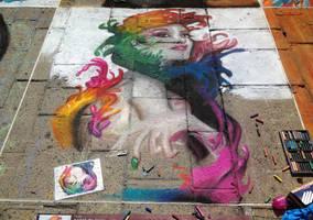 Angel of color - Soft pastels WIP 06 by DavidSerret