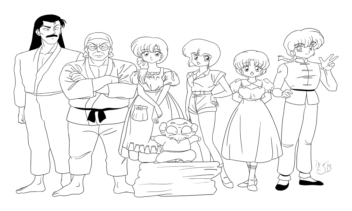 Ranma 1/2 lineart by DavidSerret on DeviantArt: davidserret.deviantart.com/art/Ranma-1-2-lineart-372089959