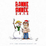 happy new year 2012 by AHMADABAD