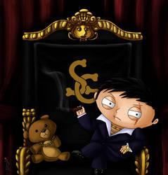 Stewie Griffin as Tony Montana by IreneLaMagra