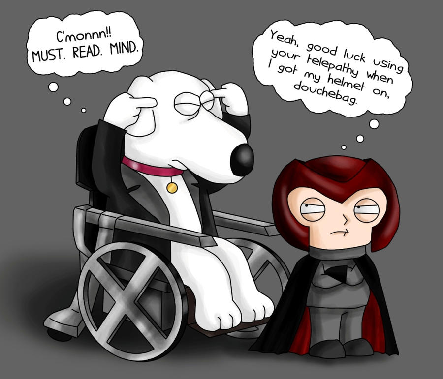 Brian X and Stewie Magneto by IreneLaMagra