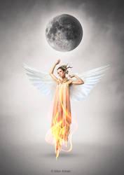 Burnig angel by Aloony89