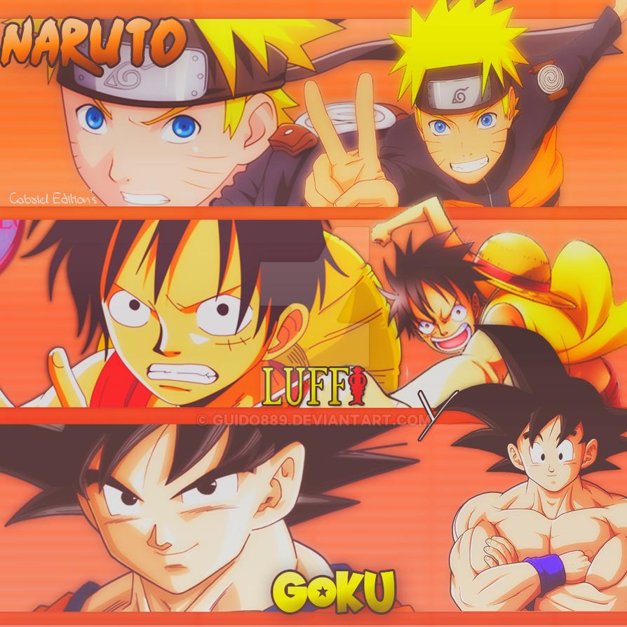 Goku Naruto Y Luffy Perfil By Guido889 On DeviantArt