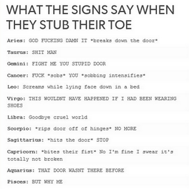the signs when