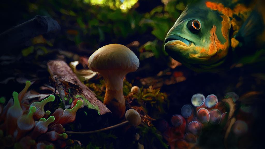 Little One Plus Fish by VictorImaginator