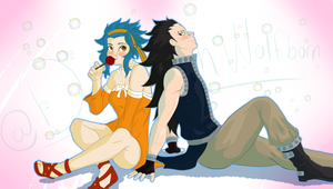 Levi and Gajeel the world fades