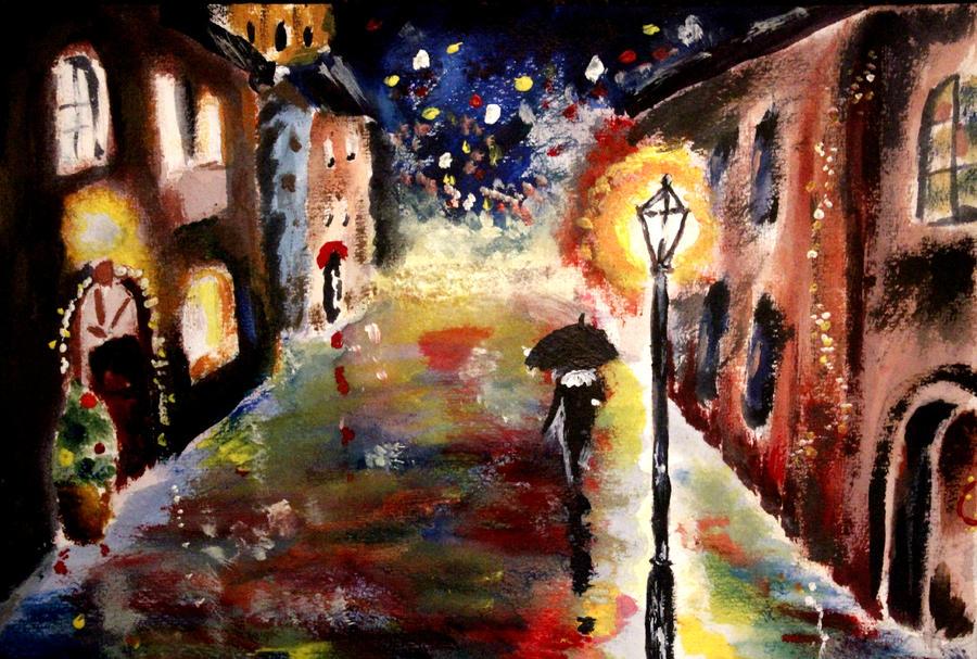 Rainy Christmas by Cynadeisum