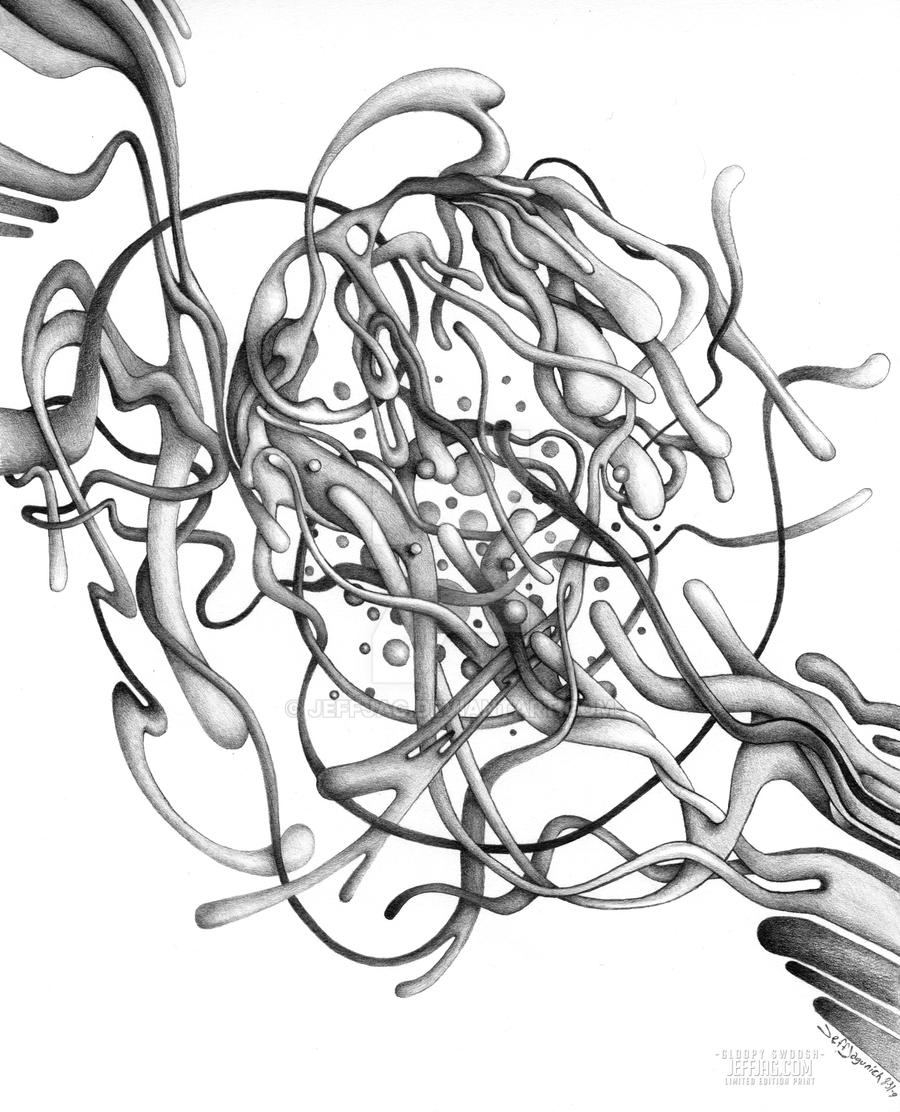 Gloopy Swoosh - Abstract Pencil Drawing by JeffJag on DeviantArt