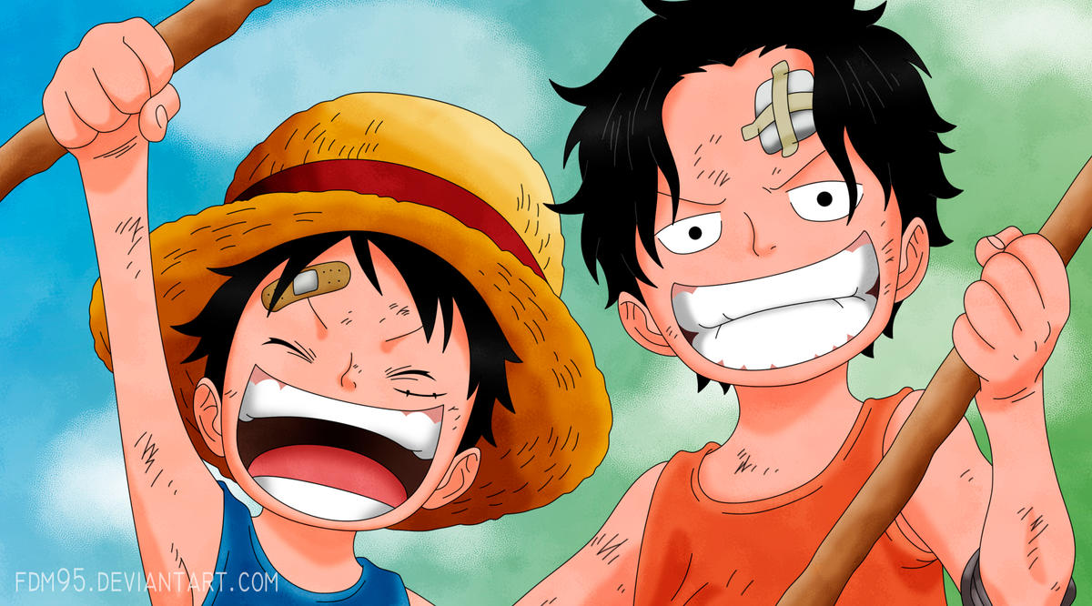 One Piece 02 - Ace y Luffy by FDM95 on DeviantArt