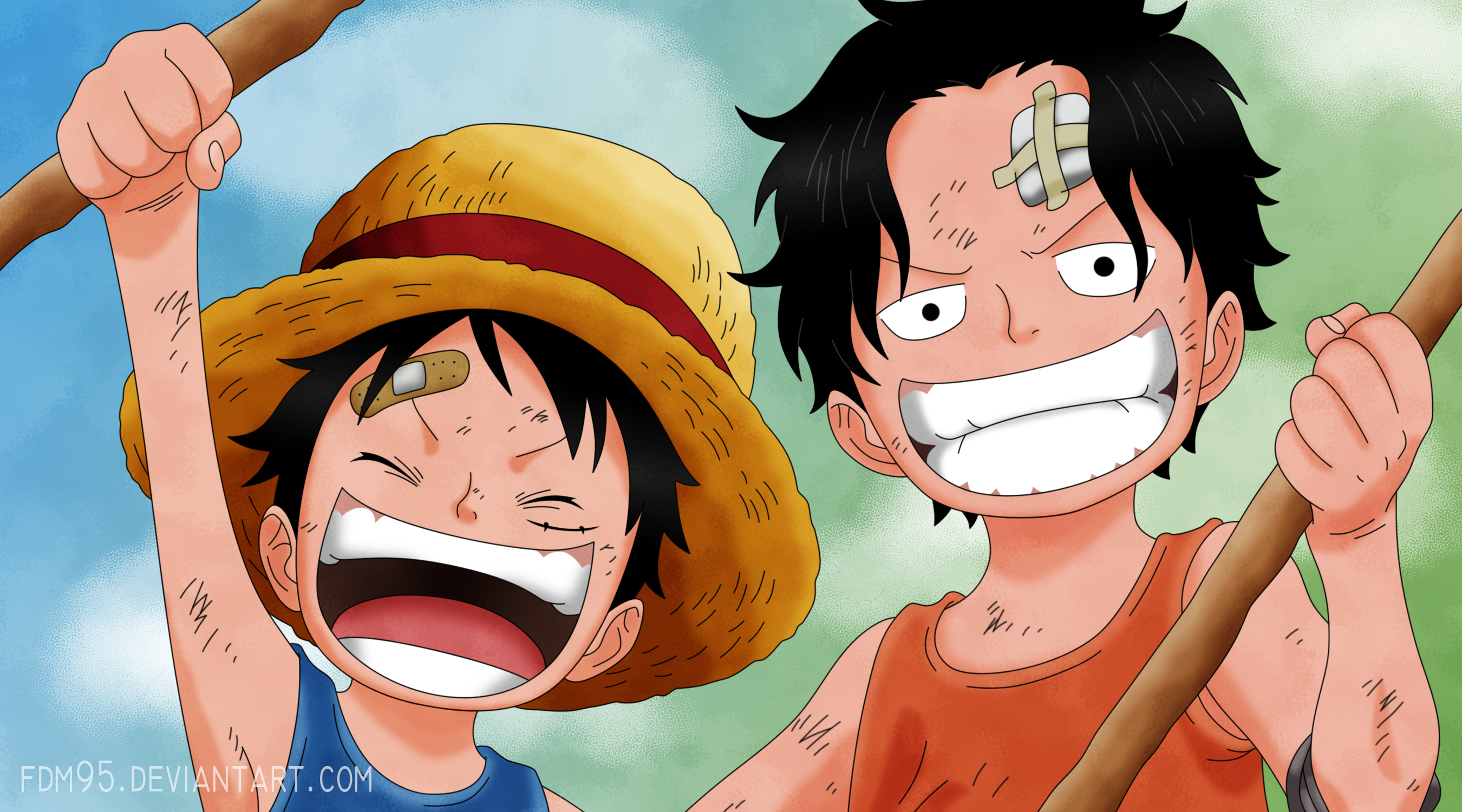 One Piece 02 - Ace y Luffy by FDM95One Piece Wallpaper Ace And Luffy