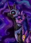 Twilight Sparkle student of Nightmare Moon