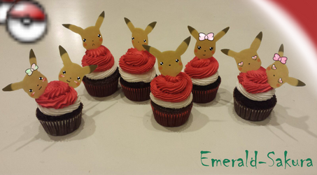 Pokemon Cupcakes: Pikachu by Emerald-Sakura