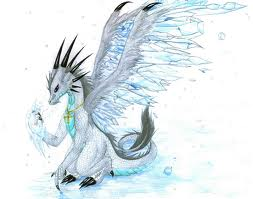 Ice Dragon by drawingkittenlover