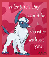 Absol Valentine by The-Emerald-Otter