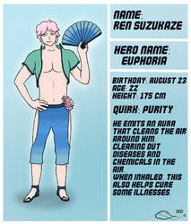 BNHA OC: Ren Suzukaze by The-Emerald-Otter