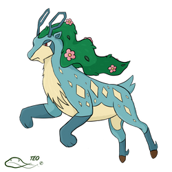 Pokemon Fusion - Suisbuck by The-Emerald-Otter