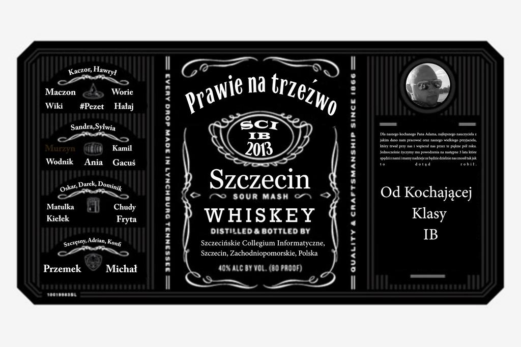 Souvent Jack Daniels - etykieta na prezent dla wychowawcy by Overlader on  MZ72