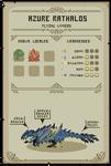 Pixel Hunter World: Azure Rathalos