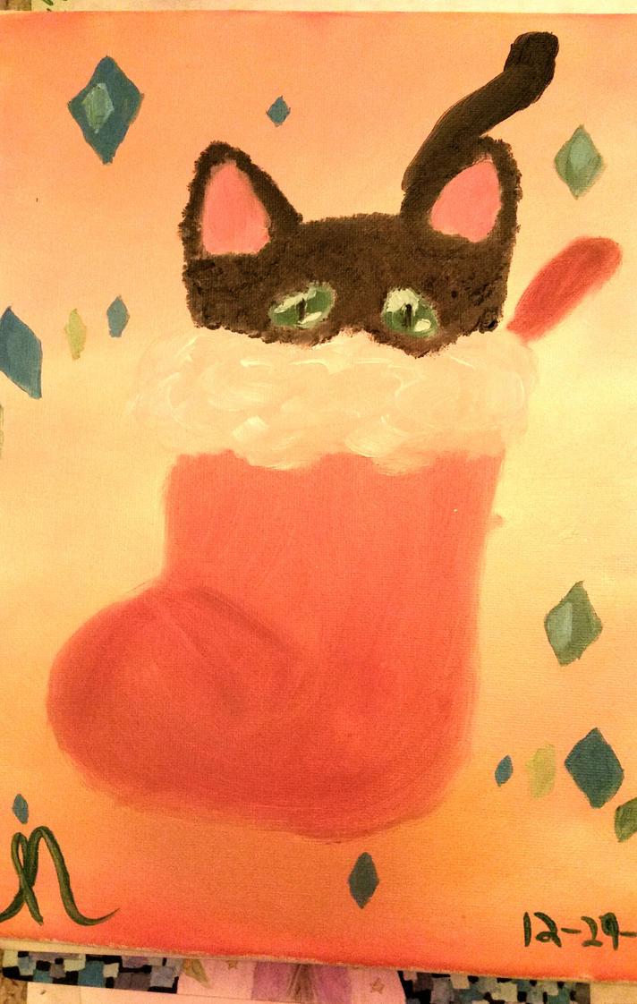 Kitten in a Stocking by Miyuki3769
