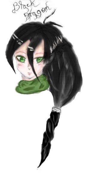 Black Dragon Colored (Edited) by Miyuki3769