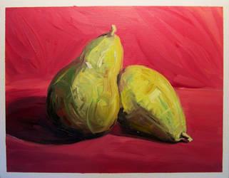 Pair of Pears by reptileweirdo90