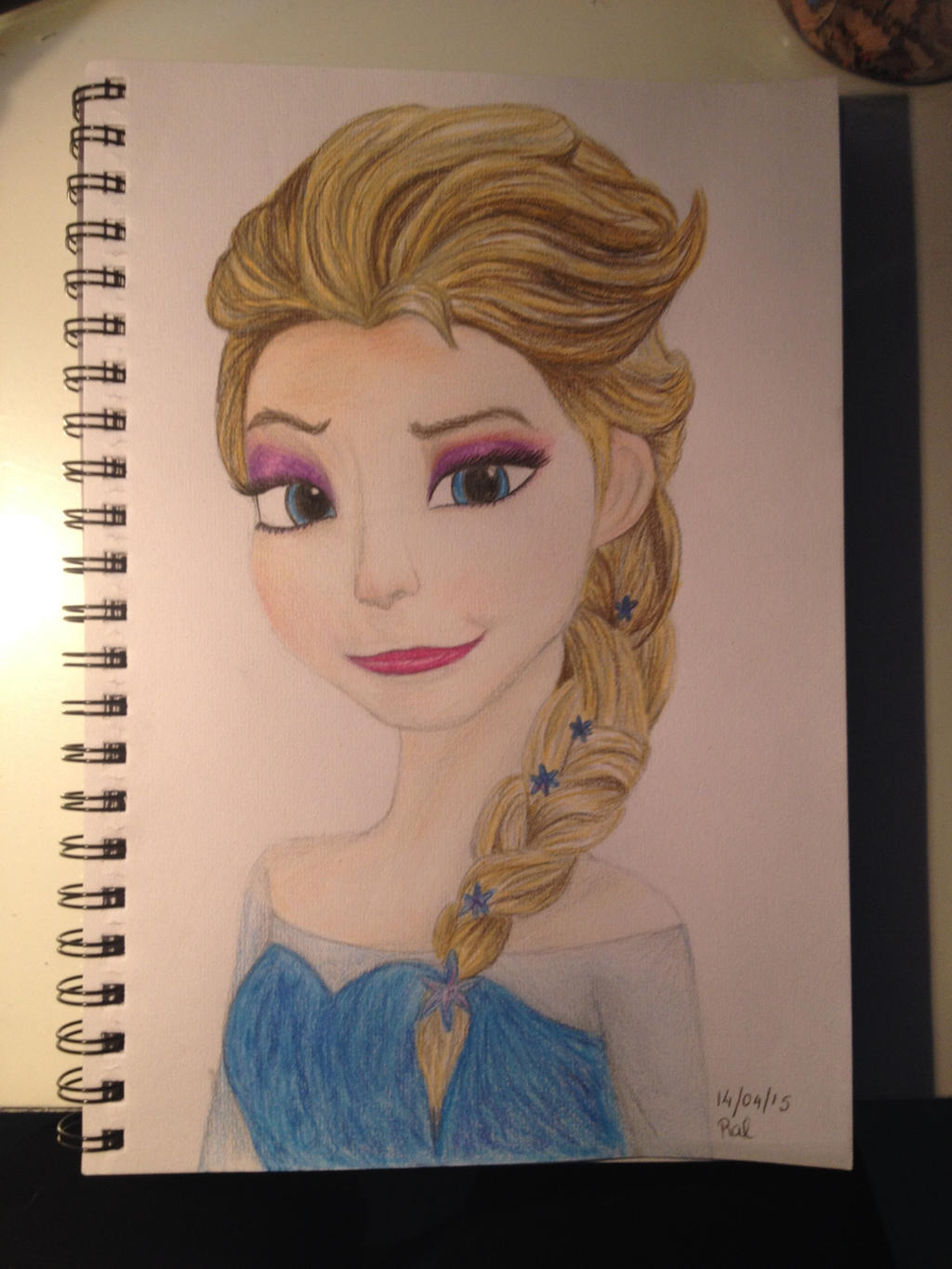 Elsa Colour Pencil Drawing By Olive26194 On Deviantart