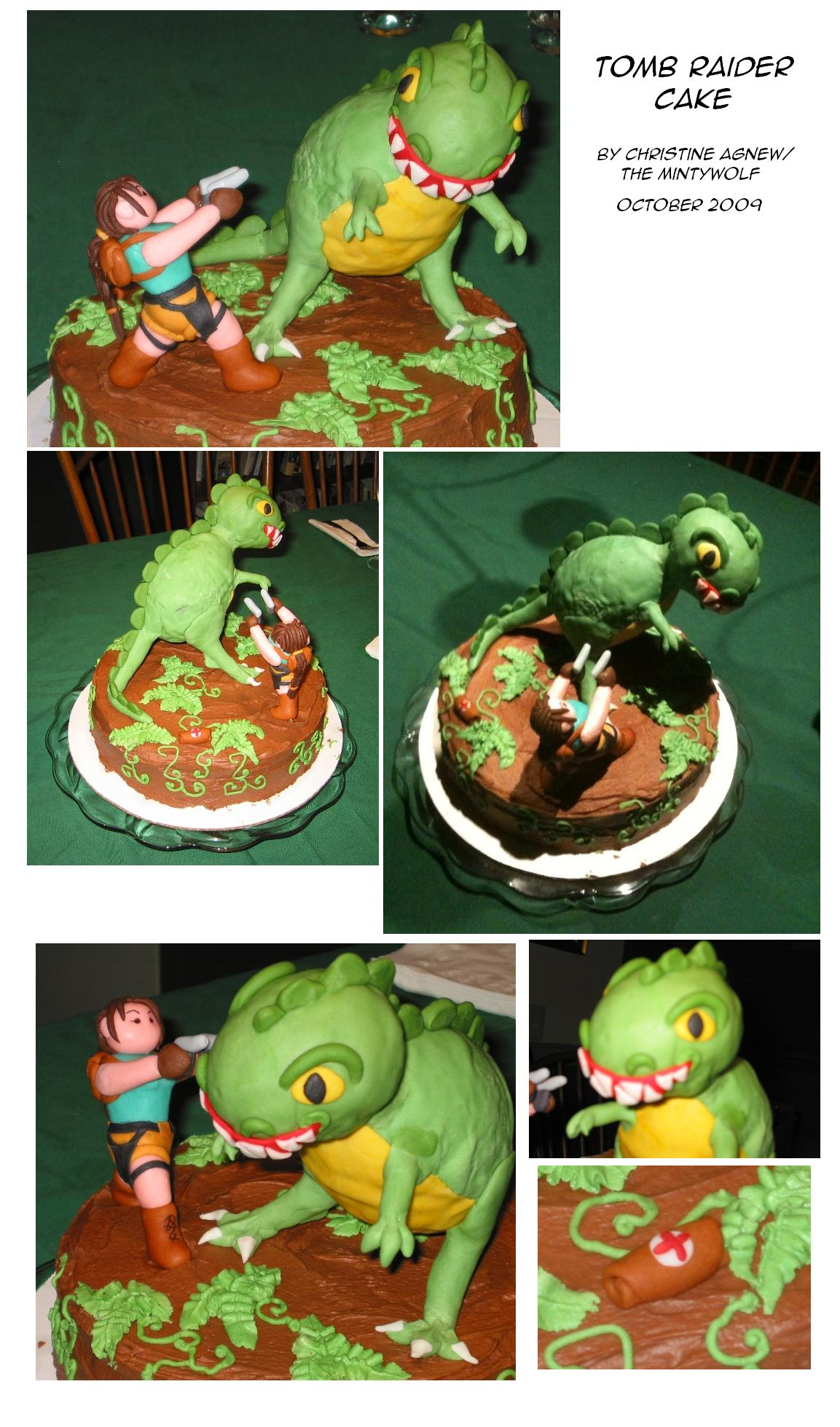 Tomb Raider Cake by DippyWerewolf