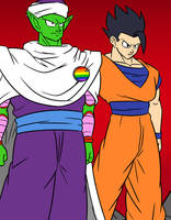 Piccolo and gohan by kish95
