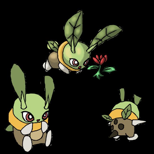 My Grass Starter Fakemon Mizzig by Protoeyesore