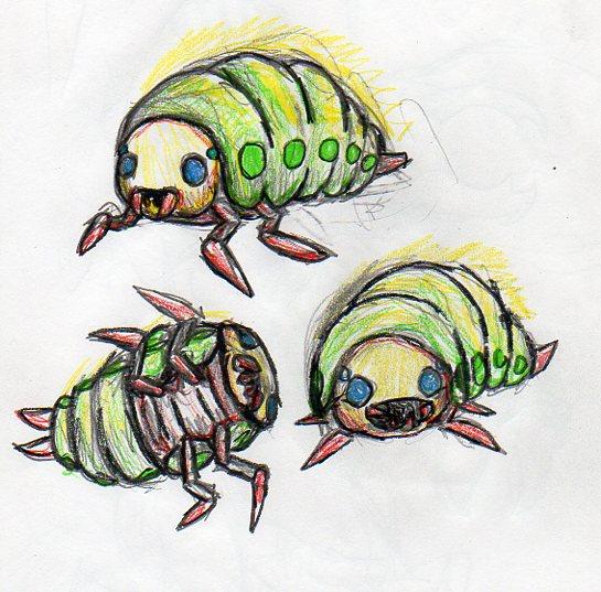 Manathiem Larvae by Protoeyesore