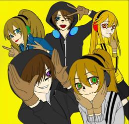Aizen the Ripper and friends ( matryoshka Ver.) by AngelAizen