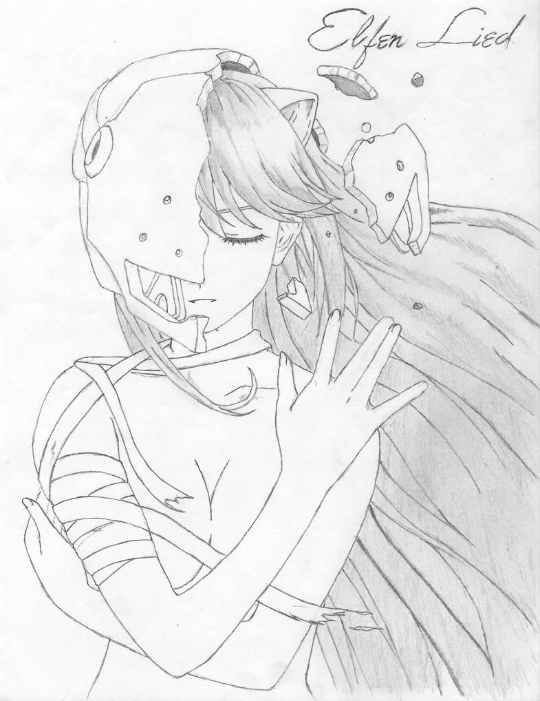 Lucy/ Elfen Lied by AngelAizen
