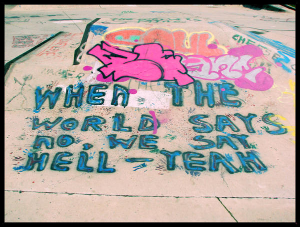 "Graffiti? ""HELL-YEAH"" by Juxtapose4me"