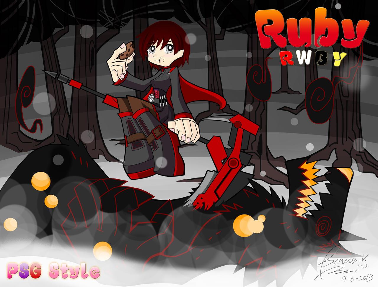 Rwby ruby by bannouneko on deviantart - Ruby rose rule 34 ...