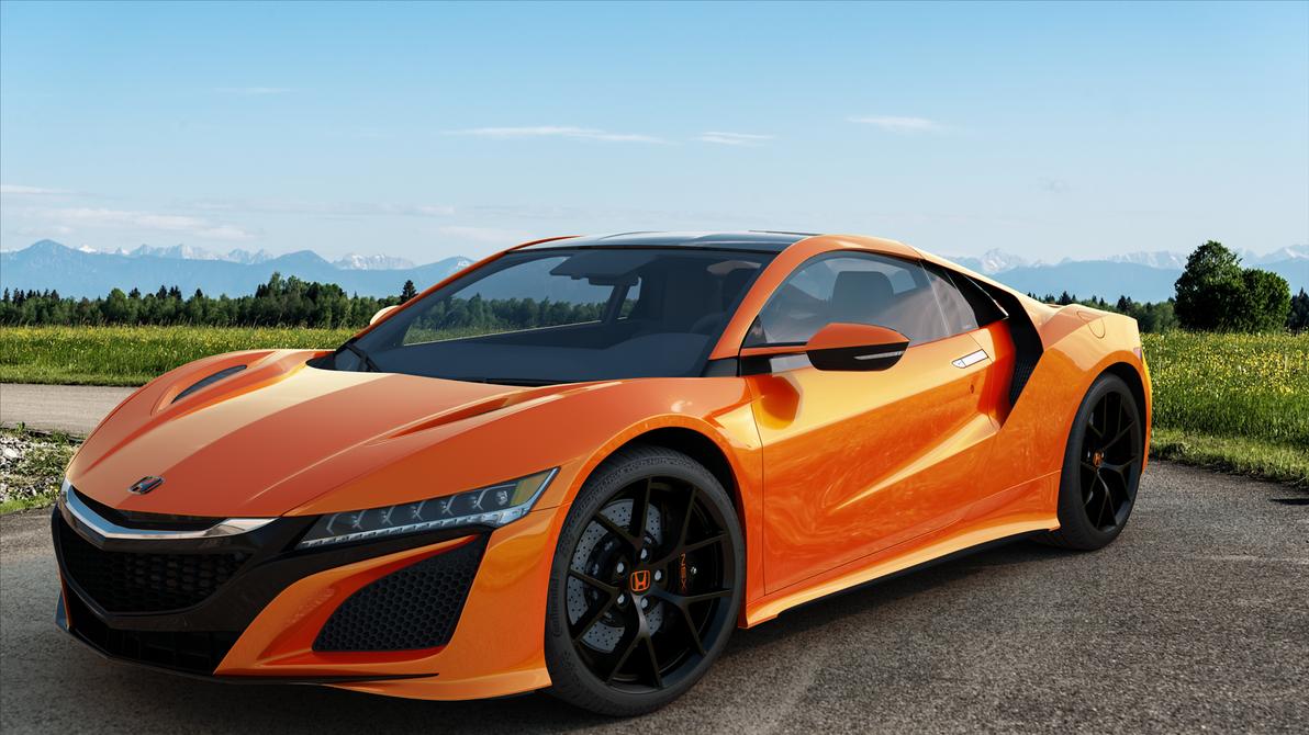 Honda NSX orange front by bacarlitos on DeviantArt