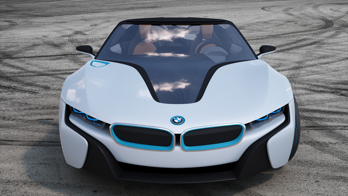 BMW i8 Spyder concept 2012 FRONTAL VIEW by bacarlitos on DeviantArt