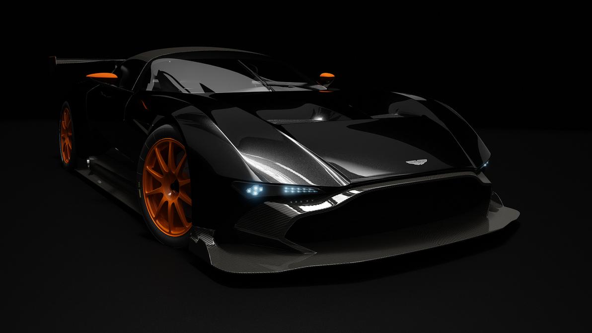 Aston Martin Vulcan black Studio 3 4 V004 by bacarlitos