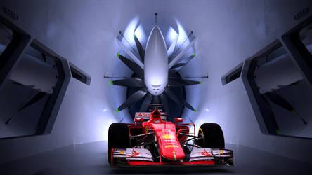 Ferrari F1 2015 Air Tunnel Front View by bacarlitos