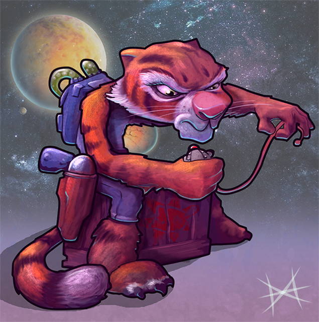 Space Tiger by Mi-Wi