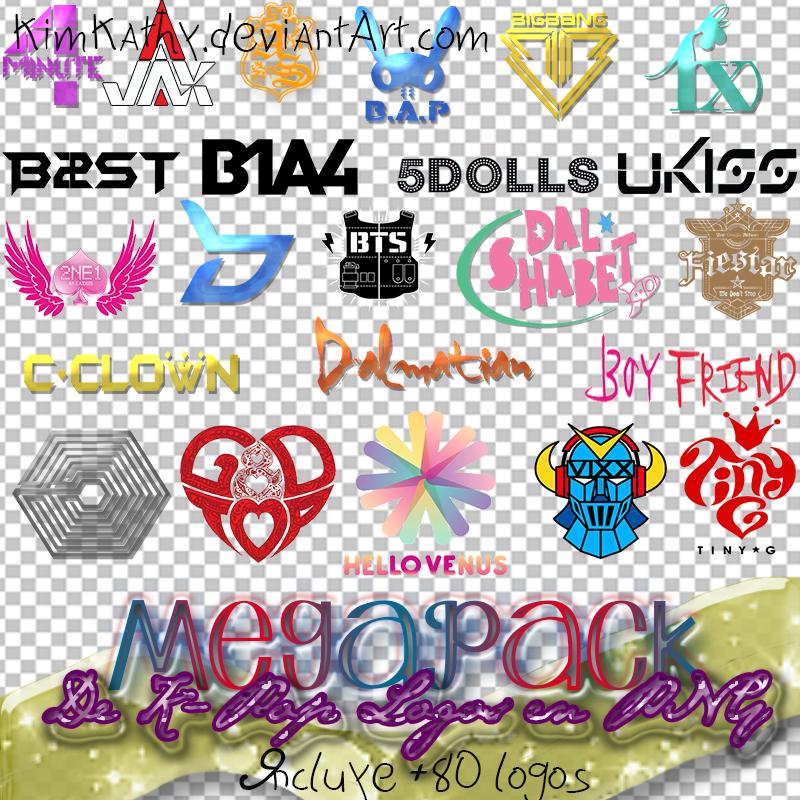 MegaPack de K-Pop Logos PNG by KimKathy