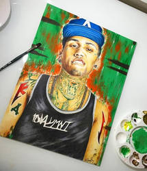 Kid Ink on Fire by MariaXXArt
