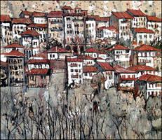 VELIKO TARNOVO: HOUSES ON THE BANK