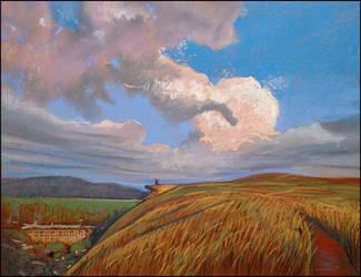 THE SKY ABOVE SIMFEROPOL by Badusev