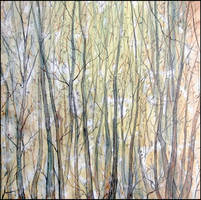 FOREST ON THE SLOPE OF KOSH-KAYA by Badusev