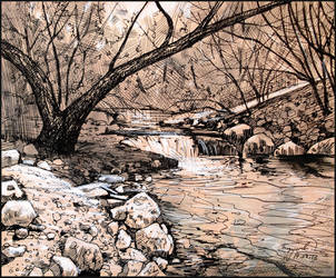 A CREEK IN THE AYAN RAVINE by Badusev