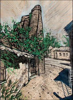 ALUSHTA. THE VI CENTURY TOWER ASHAGA-KULE