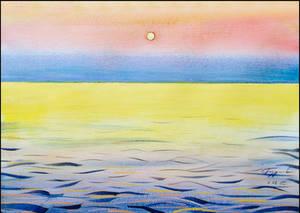 MOONRISE ABOVE THE BLACK SEA